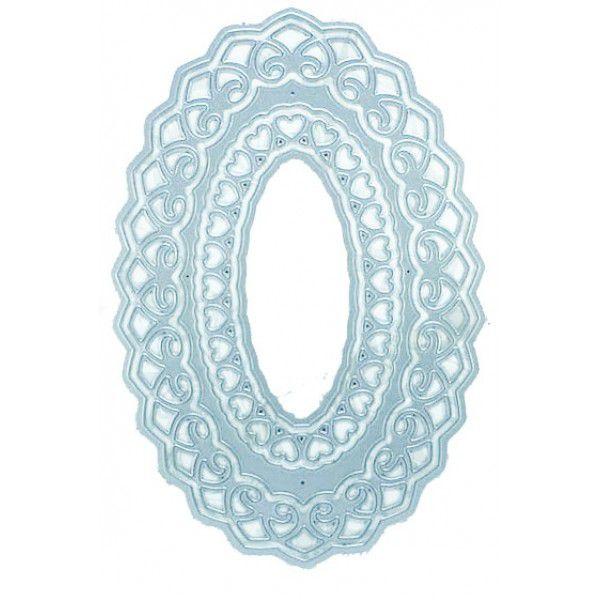 Faca de Corte em Metal Arte & Montagem Oval Frame