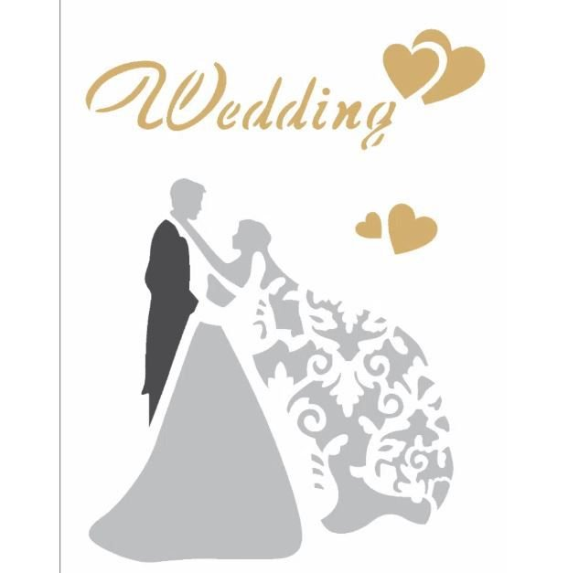 Stencil 15X20 Simples – Casamento Wedding – OPA 2344