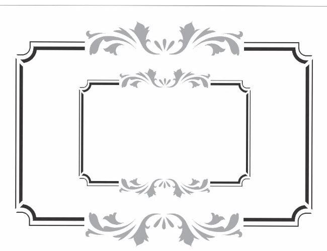 Stencil 15X20 Simples – Moldura Vintage – OPA 2447