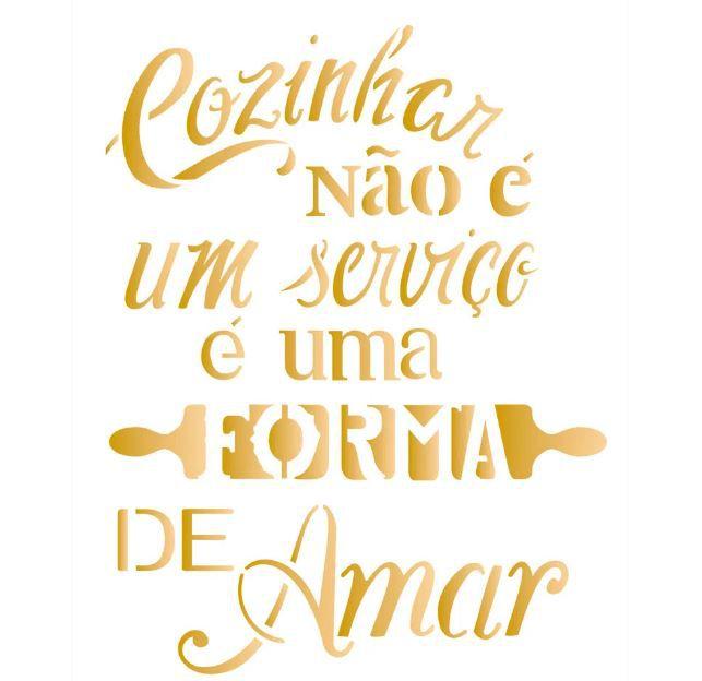 Stencil 20X25 Simples – Frase Cozinhar OPA 2184
