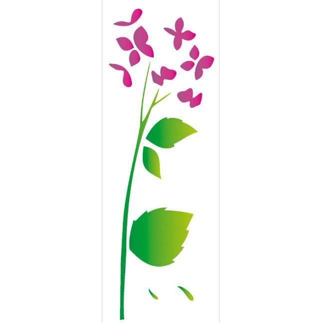 Stencil 10×30 Simples – Flor Hortênsia – OPA 1789