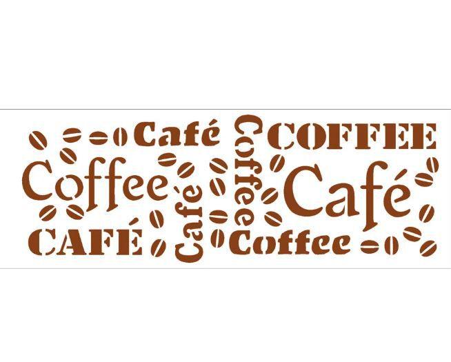Stencil 10×30 Simples – Estampa Café – OPA 742