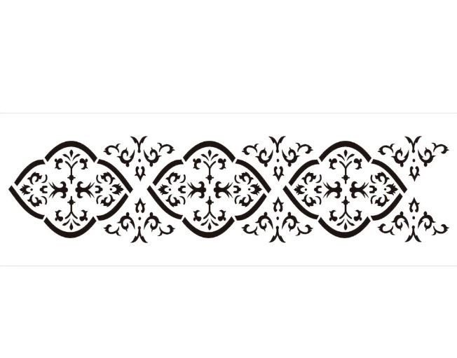 Stencil 10×30 Simples – Border Colonial – OPA 725