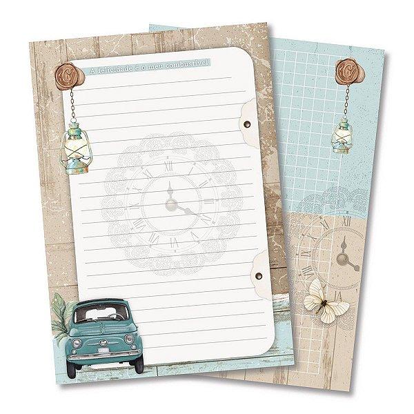 Bloco Para Recordações Modelo 1 - Travel Journal - Scrap By Antonio - 200335