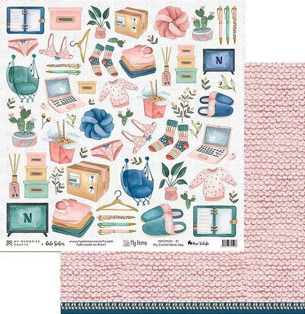 Papel My Memories para Scrapbook - My Home - MMCMHO-01