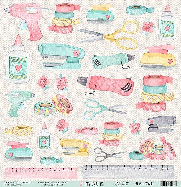 Papel My Memories Para Scrapbook - My Crafts MMCMC-01