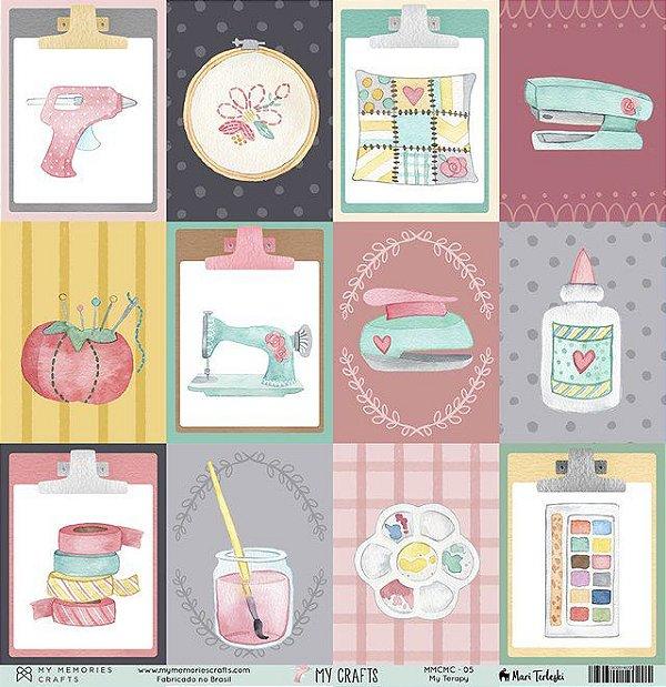 Papel My Memories Para Scrapbook - My Crafts MMCMC-05