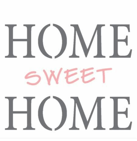 Stencil 14X14 Duplo – Home Sweet Home – OPA 2337