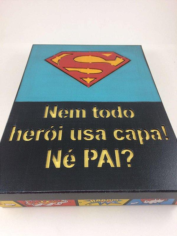 Caixa Todo Super Herói Usa Capa - Dia Dos Pais - Live 39 - 16/07/2020