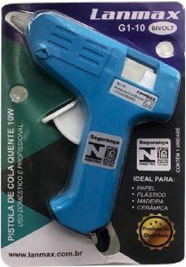 Pistola de Cola Quente 07 mm Fina Lanmax - 10W - G1-10