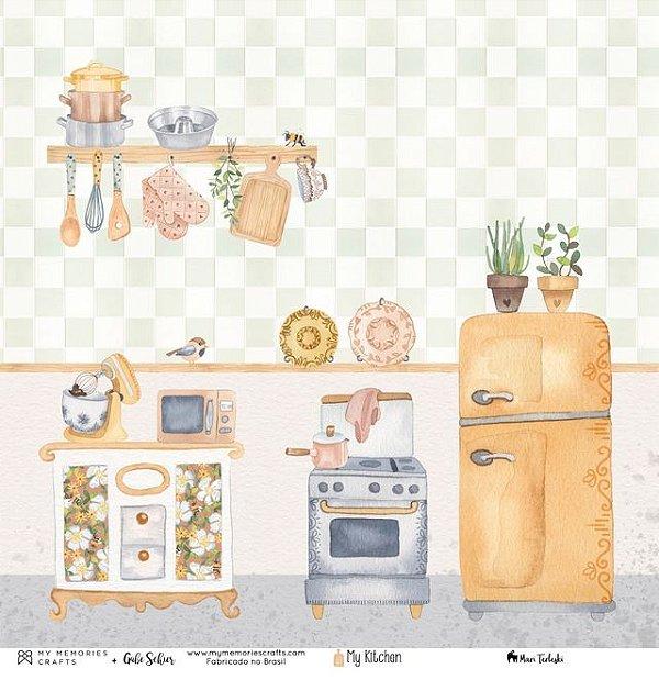 Papel My Memories Para Scrapbook - My Kitchen  MMCMK-06