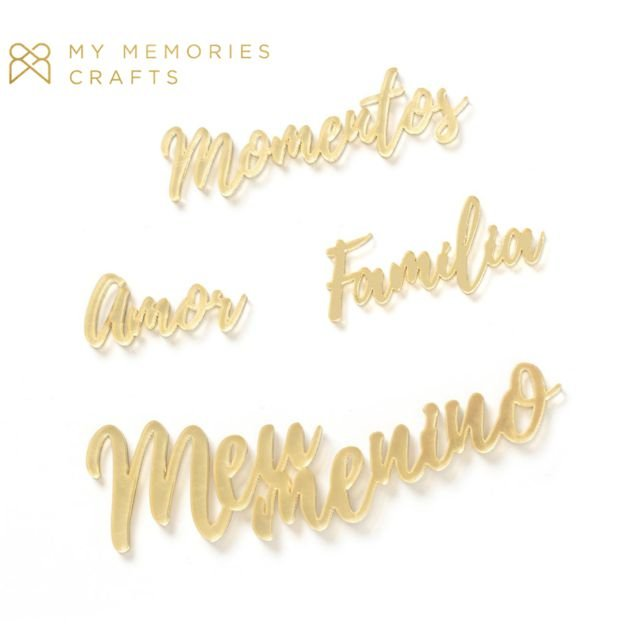 Kit de Palavras Acrílicas Douradas - My Boys - MMCMBO-10