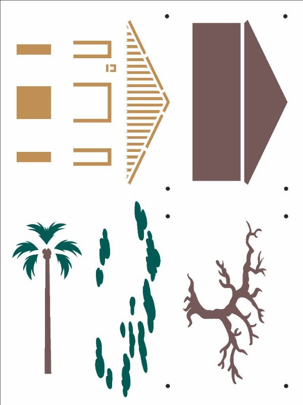 Stencil 15X20 Simples Country Brasil - Casa I - Opa 2930