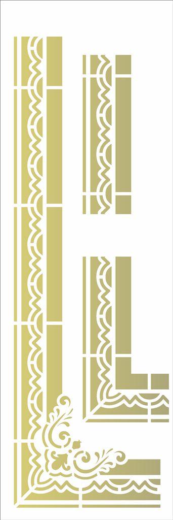 Stencil 10×30 Simples – Moldura Cantoneira I - Opa 2920