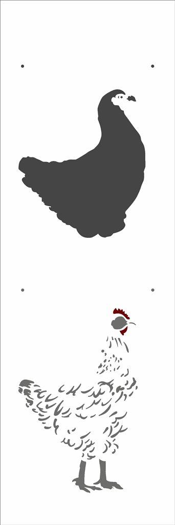 Stencil 10×30 Simples – Animais Galinha - Opa 2908