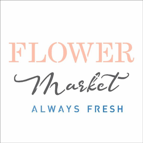Stencil 10X10 Simples FarmHouse Flower Market - Opa 2902