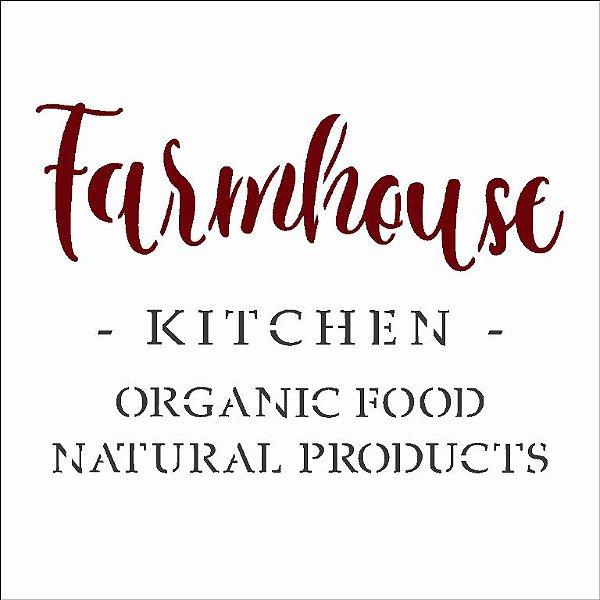 Stencil 10X10 Simples – FarmHouse Kitchen - Opa 2993