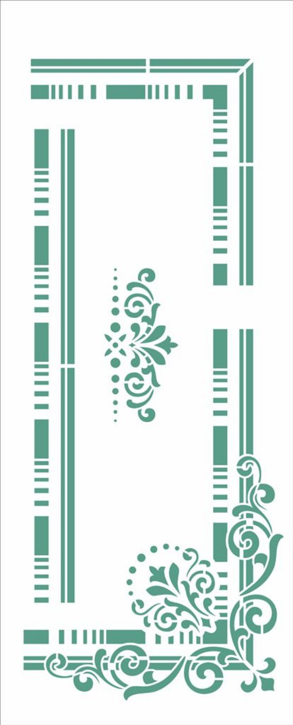 Stencil 17X42 Simples – Moldura Cantoneira - Opa 2950