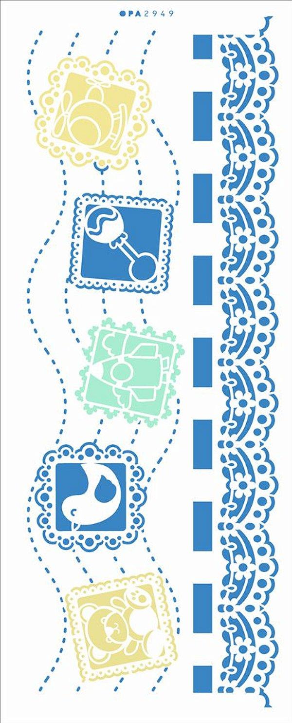 Stencil 17X42 Simples – Infantil Renda Brinquedos - Opa 2949