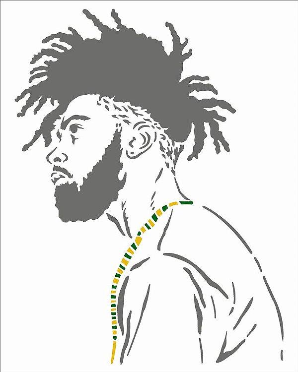 Stencil 20X25 Simples Afro Homem - Opa 2954