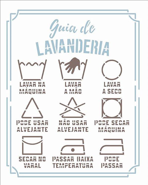 Stencil 20X25 Simples Lavanderia Guia I - Opa 2980
