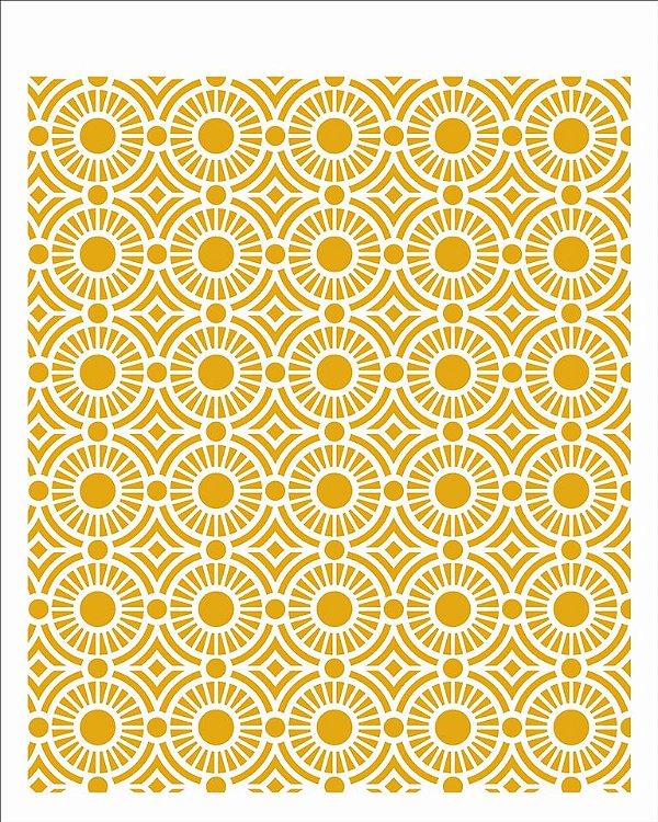 Stencil 20X25 Simples - Estamparia Vitral II - Opa 2978