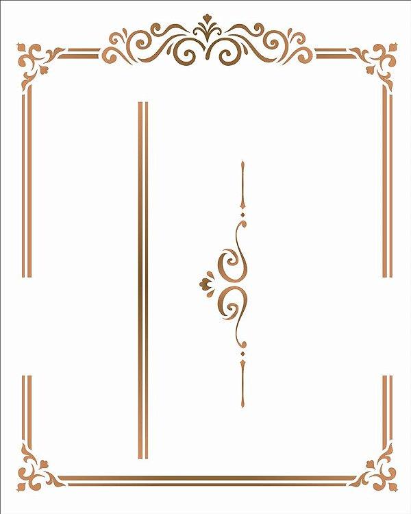 Stencil 20X25 Simples – Moldura Cantoneira I - Opa 2982
