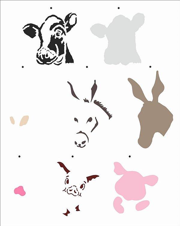 Stencil 20X25 Simples – Country Brasil - Animais I  OPA 2957