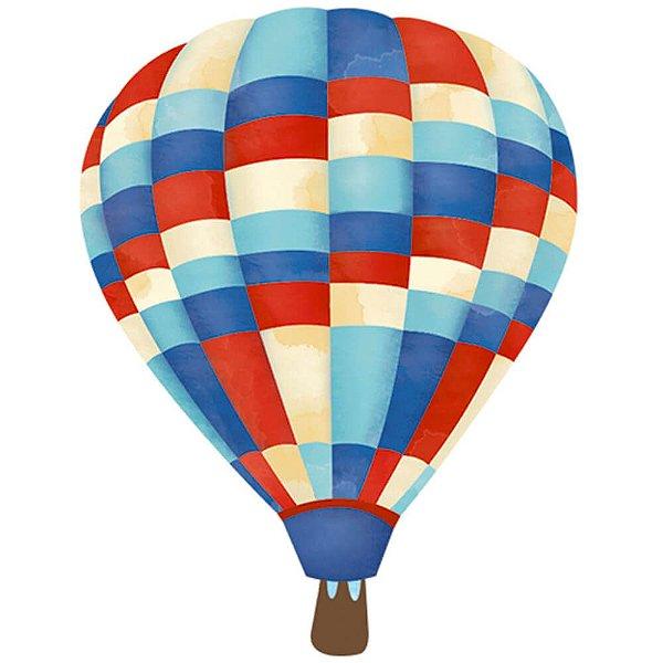 APM3-219 - Aplique Litoarte Em Papel E MDF - Balões
