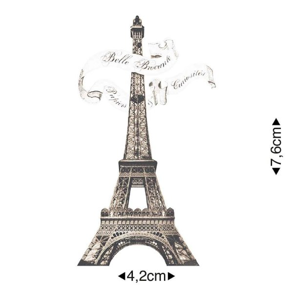APM8-1137 - Aplique Em Papel E MDF - Torre Eiffel