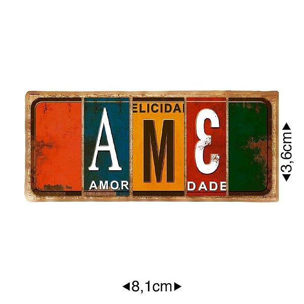 APM8-1159 - Aplique Em Papel E MDF - Ame