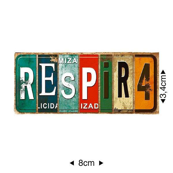 APM8-1165 - Aplique Em Papel E MDF - Respira