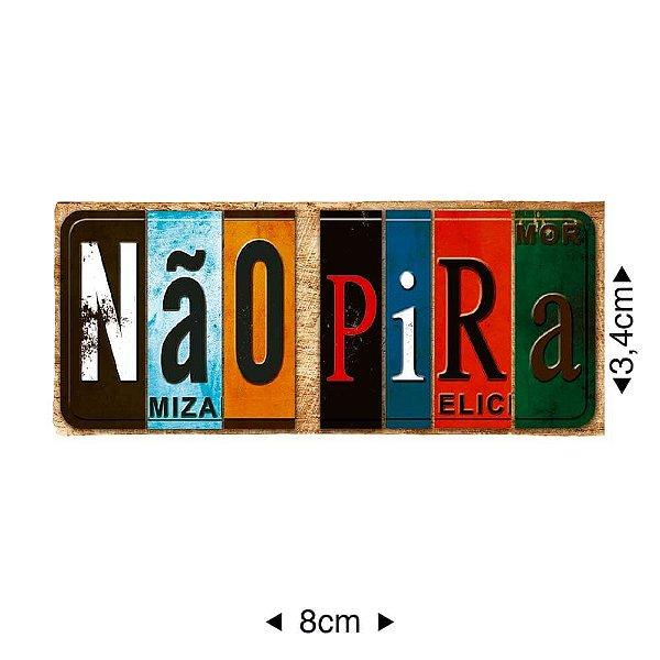 APM8-1169 - Aplique Em Papel E MDF - Não Pira