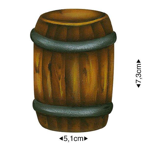 APM8-1195 - Aplique Em Papel E MDF - Barril