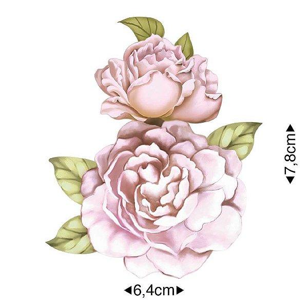 APM8-1232 - Aplique Em Papel E MDF - Flor