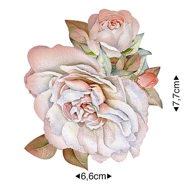 APM8-1253 - Aplique Em Papel E MDF - Flores