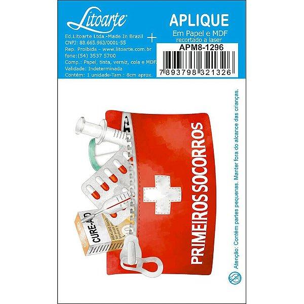 APM8-1296 - Aplique Em Papel E MDF - Primeiros Socorros Farmácia