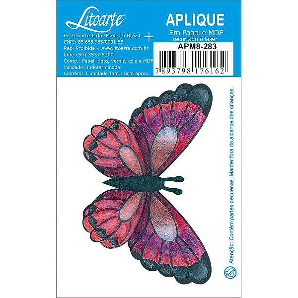 APM8-283 - Aplique Em Papel E MDF - Borboleta Pink