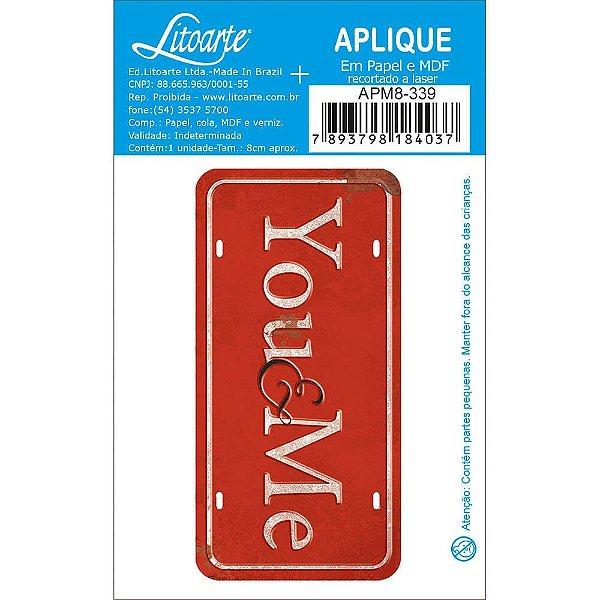 APM8-339 - Aplique Em Papel E MDF - You e Me