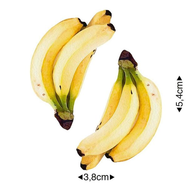 APM8-727 - Aplique Em Papel E MDF - Bananas