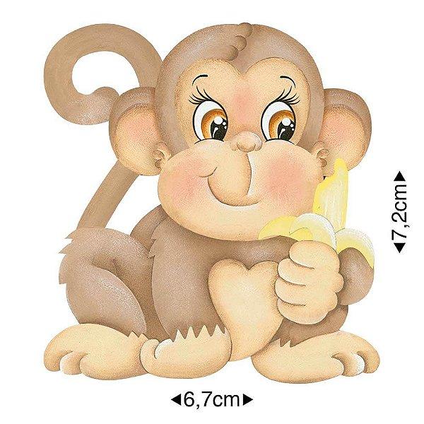 APM8-815 - Aplique Em Papel E MDF - Macaco