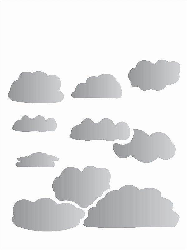 Stencil 15X20 Simples Nuvens - Opa 746