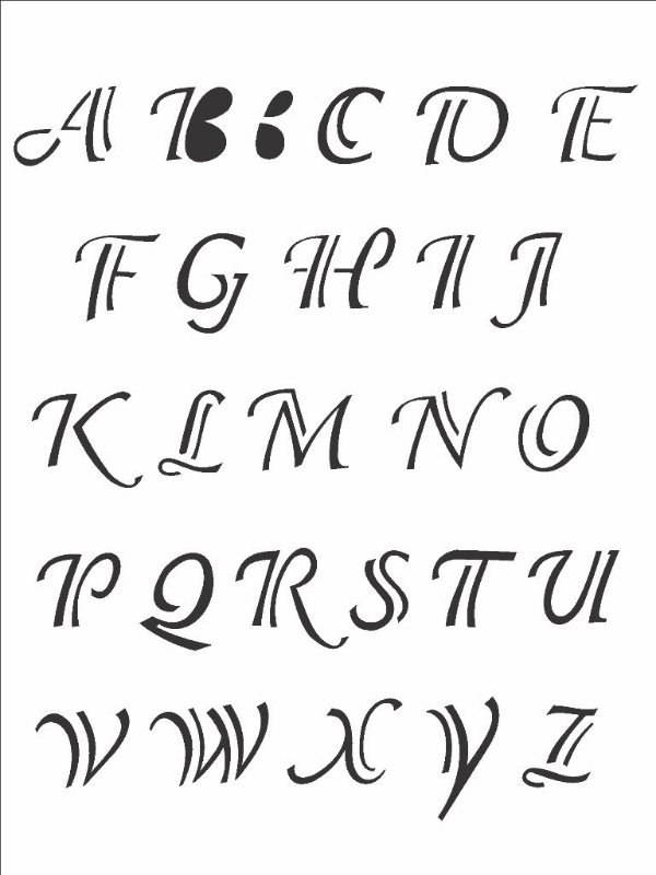 Stencil 15X20 Simples Alfabeto Clássico - Opa 299