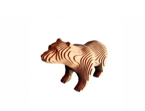 Urso 3D Laser Em MDF 100% Qualidade Decoração