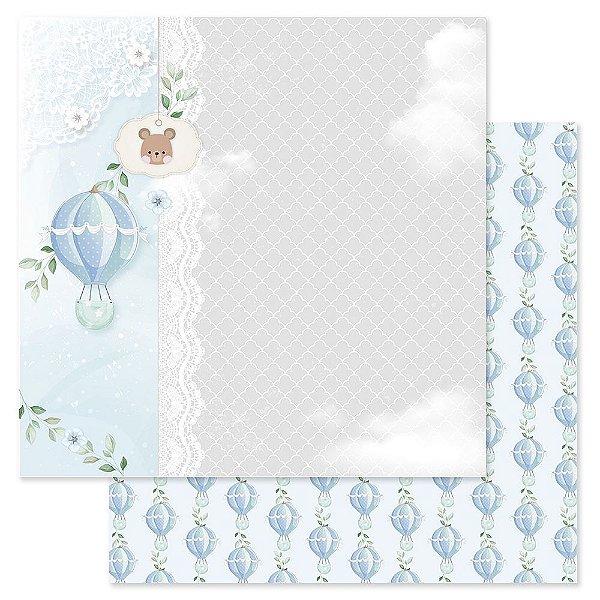 Papel Scrapbook - Scrap By Antonio Coleção Amor Eterno Baby Bebê Menino 200401