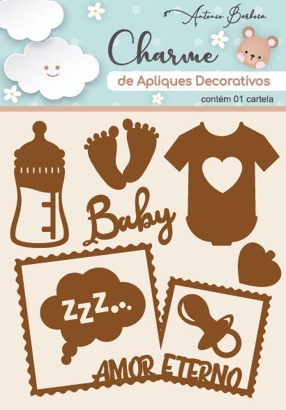 Charme Apliques Acrílico Decorativos Baby II Bronze