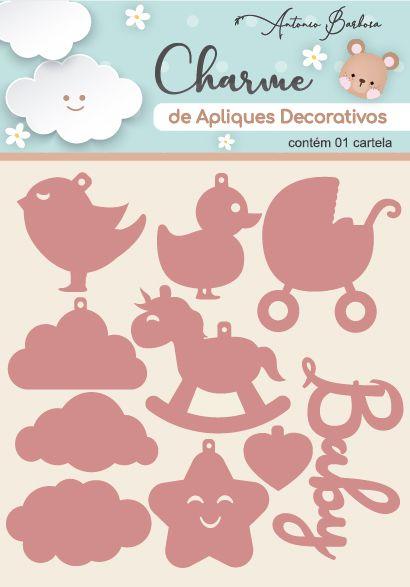 Charme Apliques Acrílico Decorativos Baby I Rose
