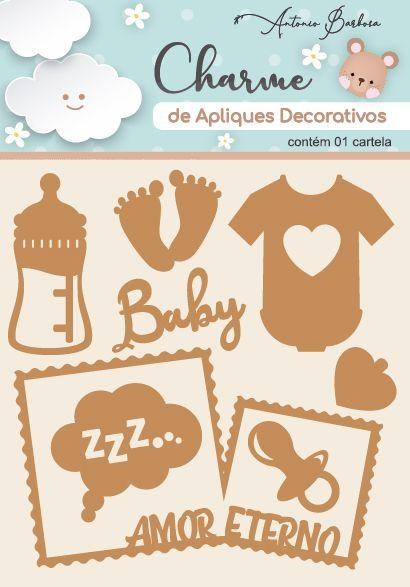 Charme de Apliques Decorativos MDF Baby II Scrap By Antonio