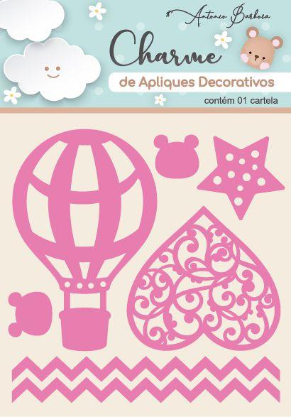 Charme Apliques Acrílico Decorativos Elementos Baby Rosa