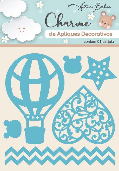 Charme Apliques Acrílico Decorativos Elementos Baby Azul